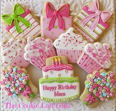 Birthday Cookies by The Cookie Loft Girls