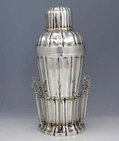 Unusual Austrian 800 Silver Cocktail Shaker