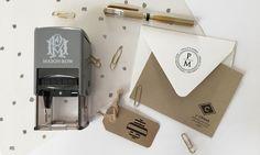 Mason Row: Mason Row Custom Stamp with 1 or 2 Optional Custom Design Plates