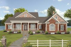 <!-- Generated by XStandard version 2.0.0.0 on 2013-05-31T17:00:55 --><ul><li>Enjoy country comfort in this flexible house plan with one level living. That is, if you choose not to build out the bonus level upstairs which gives you room to expand with two more bedrooms, a gathering area, work sapce and a rec or game area.</li><li>A 6'-deep front porch spans 29'4