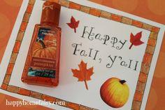 FREE Printable Fall Hand Sanitizer Gift Tag