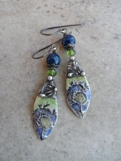 Denim Darlings ... Porcelain Charms with Tinwork by juliethelen