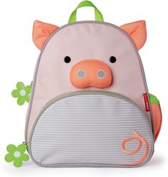 Skip Hop Zoo Backpack - pig - Whimsical details and durable materials make this the perfect pack for on-the-go! Easily holds all the supplies your preschooler might need for a busy day of