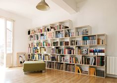 Furniture,Awesome Modular Shelving Units Design Ideas With White Plywood Material On Brown Laminate Flooring And Glamorous White Wall Paint,Stylish Modern Modular Shelving Units Design Ideas