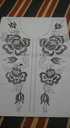 رشمات الطرز للقفطان والقندورة أجمل الموديلات الجديدة . للإستفادة Hand Embroidery Design Patterns, Embroidery Tools, Tambour Embroidery, Hand Embroidery Videos, Hand Work Embroidery, Embroidery On Clothes, Flower Embroidery Designs, Ribbon Embroidery, Indian Embroidery
