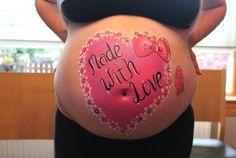 Sweet heart belly art www.hierishetfeest.com