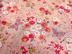 Japanese Floral Fabric  Butterflies and Flowers by theheydayshop, $7.80