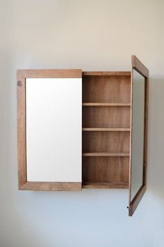 Minimalist Medicine Cabinet & Bathroom Cabinet & Wall Storage Unit & Bathroom Organization Source by etsy Mirror Cabinets, Small Bathroom Storage, Small Bathroom, Bathroom Organization, Wood Medicine Cabinets, Bathroom Units, Wall Storage Unit, Wall Storage, Bathroom