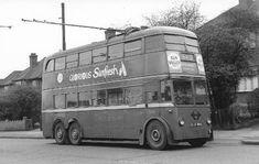 London Transport Trolley bus 1959, Edgware Road, London Cricklewood (UK)