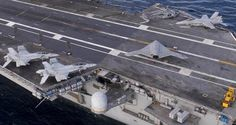 First pics: X-47B Unmanned Aircraft at sea aboard carrier TRUMAN