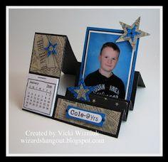 Wizard's Hangout: Stair-Step Photo Card Calendar