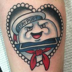 Stay Puft tattoo