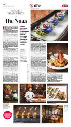 Refined Thai Cuisine at The Nuaa|Epoch Taste #Food #newspaper #editorialdesign