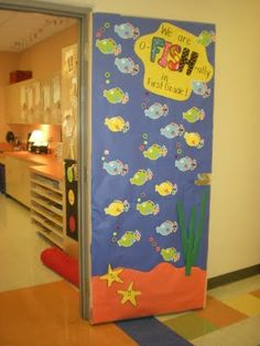 O-fish-ally in first grade (change to 2nd) Students decorate their fish. Give goldfish as snack. *For meet your teacher*
