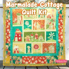 Marmalade Cottage Quilt Kit Featuring Marmalade Cottage by Robin Betterley - Fat Quarter Shop  Kinda Funky cute!