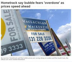 Hometrack say bubble fears 'overdone' as prices speed ahead http://www.standard.co.uk/business/business-news/hometrack-say-bubble-fears-overdone-as-prices-speed-ahead-8848691.html