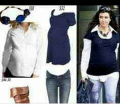 Casual chic maternity wear