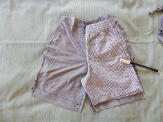 大人服を子供服にリメイク!型紙不要!キッズショートパンツの作り方 Kids Shorts, How To Make, Clothes, Fashion, Outfits, Moda, Clothing, Fashion Styles, Kleding