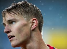 Martin Odegaard of Norway during the FIFA 2018 World Cup Qualifier between Norway and Germany at Marienlyst Stadion on October 2017 in Drammen, . Get premium, high resolution news photos at Getty Images World Cup Qualifiers, Football Boys, October 10, Bloody Mary, Real Madrid, Fifa, Norway, 21st, Germany