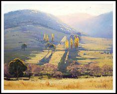 MOUTON ferme peinture commandée le paysage rural traditionnel beaux-arts tarana par Graham Gercken