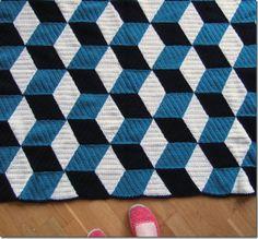 Amazing knit blanket (norwegian blog)