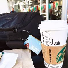 Technically speaking, I need only a few things in life: ☕️, 🎒, 📸, ✈️, ❤️ @juliajetsetting starbucks coffee cup delta million miler medallion #traveldeeper #journeywithme #traveladdicted #doyoutravel #travelstyle #traveljunkie #diamondmedallion #travelgram  #natgeoyourshot #travelphoto #livetravelchannel #travelblog #passionpassport #lonelyplanet  #canada #travelpics #vancouver #coffee #vacationmode #girlslovetravel #celebritycruises #foodie #starbucks #traveltheglobe #worldtravel