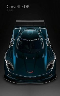 ♂ Dark blue car Corvette DP