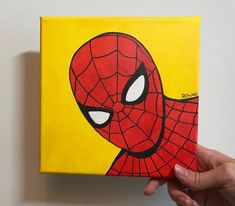 Small Canvas Paintings, Small Canvas Art, Mini Canvas Art, Spiderman Drawing, Spiderman Cute, Toile Disney, Avengers Painting, Disney Canvas Art, Marvel Paintings