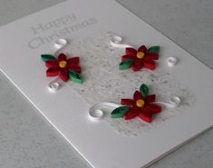 Quilled Christmas card, handmade, paper quilling. £5.00, via Etsy.
