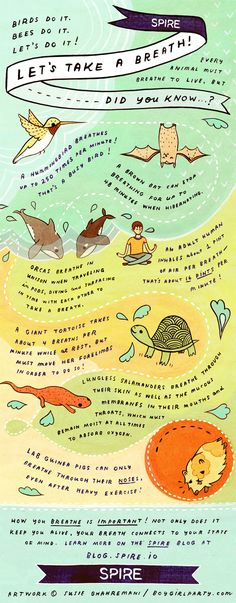 Let's Take a Breath! Infographic by Susie Ghahremani / boygirlparty.com for Spire http://spire.io #spire