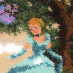 """MCG Textiles Latch Hook Kit 12""""X12""""-Cinderella"""