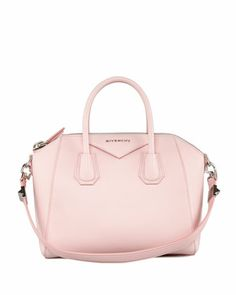 Antigona Small Sugar Goatskin Satchel Bag, Light Pink by Givenchy at Bergdorf Goodman.