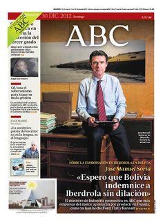 La portada de ABC del 30 de diciembre