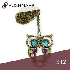 Last oneJeweled owl necklace Colorful and stylish for any age.  Hello dear!  Take a look at what I have for sale and don't be afraid to make an offer  Bundle your items for a 10% discount  New items arrive daily so be sure to check back soon Make sure to look out for my buy 2 get one free deals   Happy shopping  Jewelry Necklaces