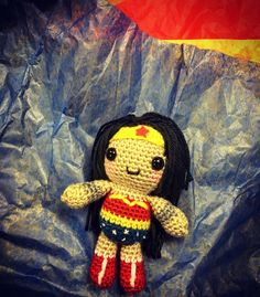 It's my coworkers last day tomorrow so I made her a mini Wonder Woman :D Also I got promoted & taking her job woooo!   #3yearsatemp #wonderwoman#amigurumi#crochet#art#crafts#dianaprince#dccomics#fanart#hooker#amigurumis#yarn#diy#handmade#gift by zeelectronic