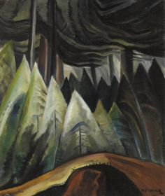 Forest Light Art Print by Emily Carr. All prints are professionally printed, packaged, and shipped within 3 - 4 business days. Canadian Painters, Canadian Artists, Emily Carr Paintings, Group Of Seven Paintings, Forest Light, Thing 1, Impressionist Paintings, Oil Paintings, Fine Art Auctions