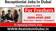 Receptionist Jobs In Dubai UAE Dubai Hotel, Dubai Uae, Medical Receptionist, Jobs For Freshers, Good Communication Skills, Office Assistant, We Are Hiring, Job Description, How To Apply