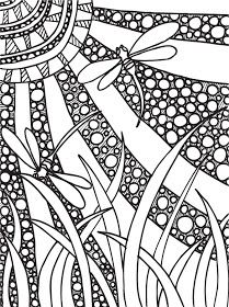 Abstract Doodles: Print to Color
