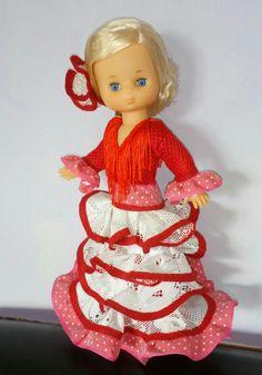 Mi Lesly ,vestido flamenca creación propia.