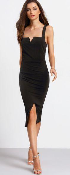 Dark Spaghetti Strap Dresses