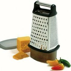 Norpro Stainless Steel 4 Sided Grater W/Catcher 325 by Norpro. $18.49. Ideal for use with cheese, veggies, and fruits. this versatile tool grates and slices with ease. Features razor sharp blades for easy use and effortless fine. Utilizes non-slip rubber base to keep grater secure while in use. S/S 4 Sided Grater W/Catcher An essential addition to your kitchen. Item #325 S/S 4 Sided Grater W/Catcher An essential addition to your kitchen, this versatile tool grate...