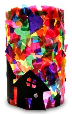 Lantern, maybe we could also have a house lantern for .- Laterne, vielleicht könnten wir auch eine Häuserlaterne zum vanGogh Thema mach… Lantern, maybe we could also make a house lantern vanGogh theme - Diy Crafts Love, Diy Arts And Crafts, Fall Crafts, Diy Crafts For Kids, Diy Paper, Paper Crafts, Tissue Paper, Les Themes, Saint Martin