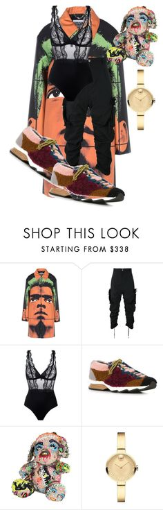 """Untitled #379"" by suda-a ❤ liked on Polyvore featuring Moschino, FourTwoFour on Fairfax, La Perla, Fendi, Patricia Field Art/Fashion and Movado"