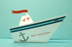 DIY Origami Boat Valentine-cute for next cruise Origami Ship, Origami Cards, Origami Boat, Origami Easy, Scrapbook Supplies, Scrapbooking Layouts, Origami Towel Folding, Anchor Crafts, Origami For Beginners