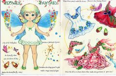 Flower Fantasy paper doll and lots more