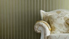 Byzance, Linea: An organic, and trendy, design to reinvigorate your modern design scheme. #interiors #stripes #wallcoverings #wallpaper #fardis