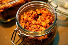 Granola is a staple in my house. I make it lots of different ways, using this basic recipe as sort of a template. Apple Breakfast, Breakfast Bites, Homemade Exfoliator, Apple Recipes, Vegan Recipes, Double Apple, Beauty Recipe, Get In Shape, Chana Masala