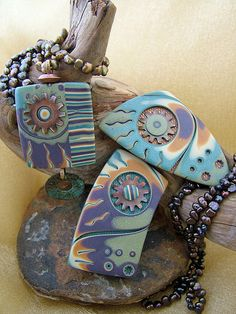 love the colours of these pieces by Julie Picarello