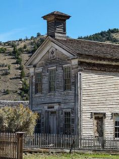 Ghost town hunting makes a fun Montana road trip: Masonic Lodge and Schoolhouse in Bannack Ghost Town near Dillon, Montana.