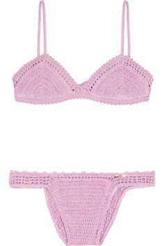 SHE MADE ME Crocheted cotton triangle bikini #SheMadeMe